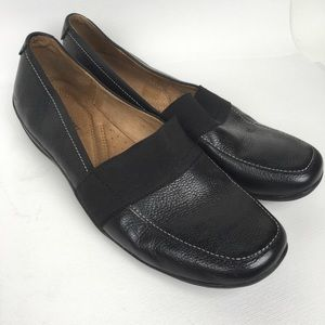 NATURALIZER Sz 9M  Black Leather Loafers